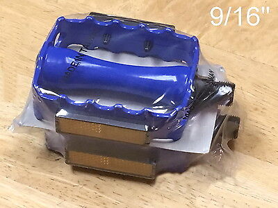 """Blue New 9/16"""" Alloy Pedals for Track Fixie BMX MTB Bike Bic"""