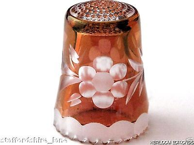 RUBY GERMAN CRYSTAL THIMBLE