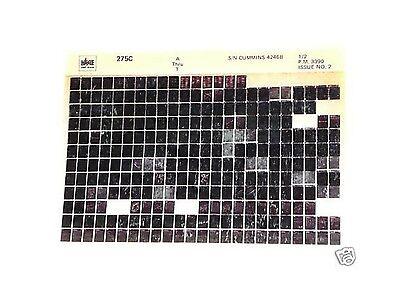 Volvo Vme 275c Wheel Loader Parts Manual Microfiche