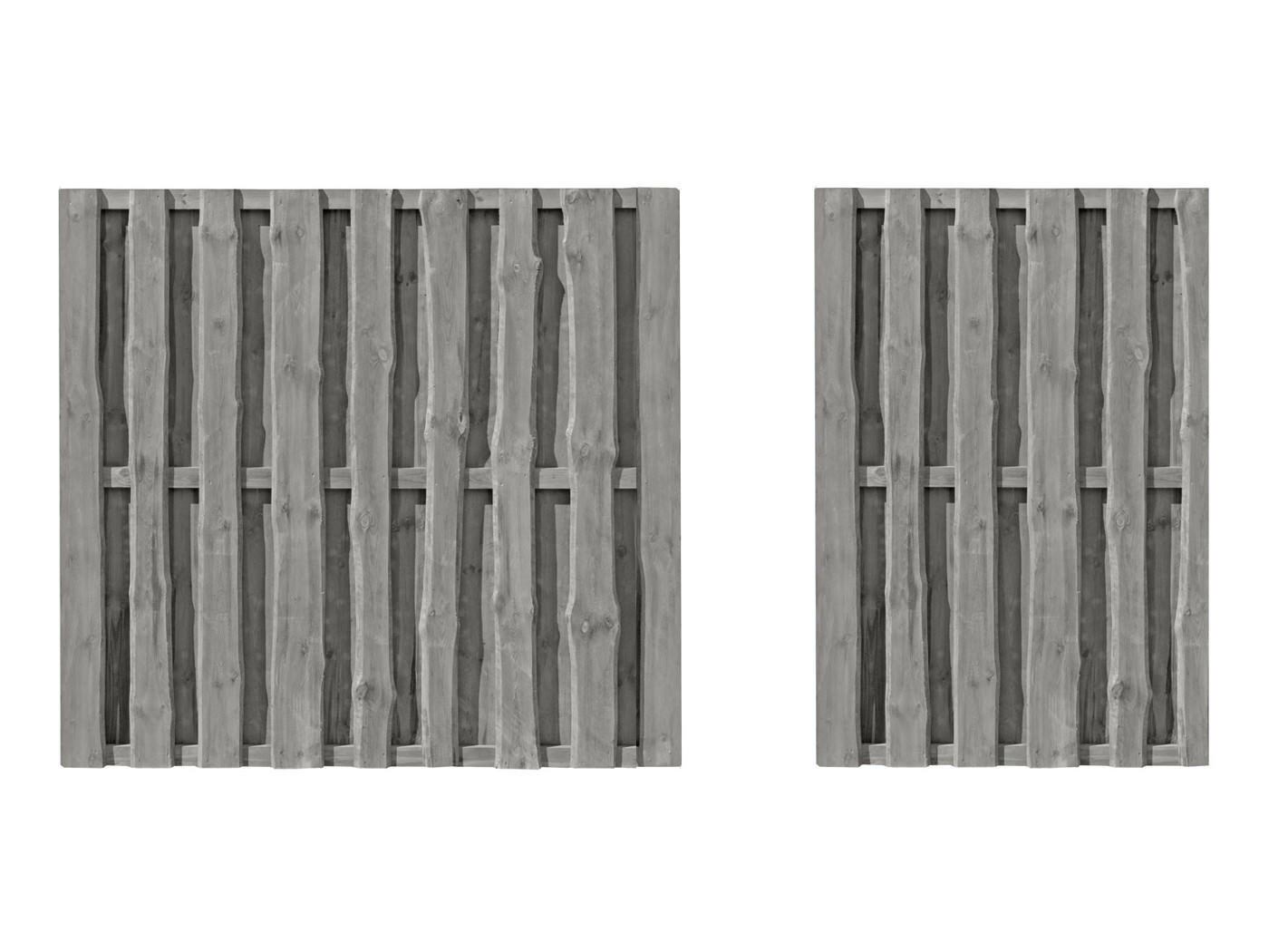WOODTEX Sichtschutzzaun Mailand grau Gartenzaun Holz