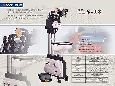 Advance Dual Head Y&T S-18 ping pong table tennis robot, ball machine.USA local