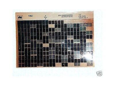 Volvo Vme 125c Wheel Loader Parts Manual Microfiche