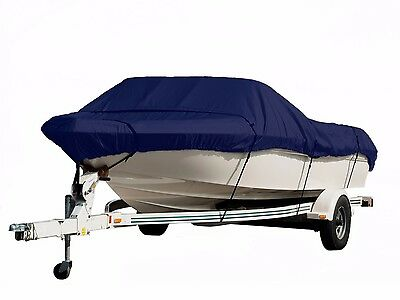 New Komo Covers Boat Cover  Hvy Duty  Trailerable 25 28  Navy Blue  Free Bag