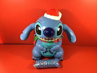 Used TDL Popcorn bucket Disney Stitch Christmas version limited F/S - Christmas Buckets