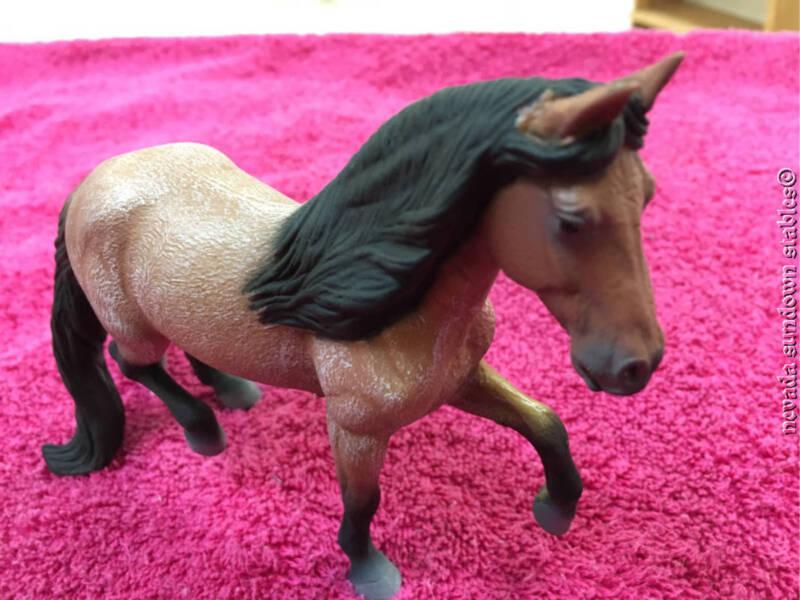Breyer Model Horses Miniature Collecta Bay Roan Mangalara Marchador Stallion