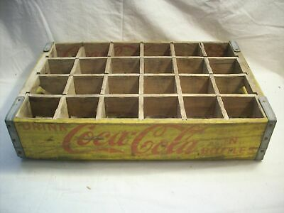Vintage Yellow Coca Cola Bottle Crate 24 Bottle