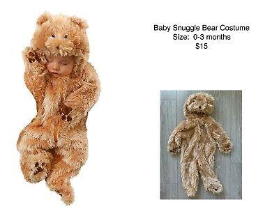 Baby Costume 0-3 Months (Snuggle Bear Teddy Cub Costume Baby Newborn 0-3)