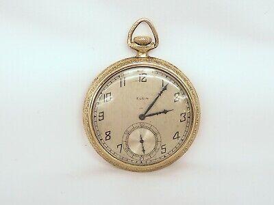 1925 Elgin 12s Pocket Watch, 17j, Grade 345 w/ Monarch Case As Shown
