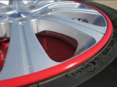 Rim Guards Red Alloy Armor Wheel Rim Curb Scratch Protection For Audi Models