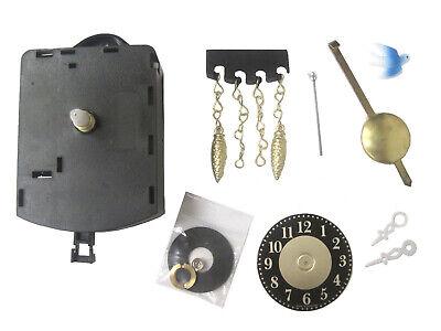 Mini German Battery Cuckoo Clock Replacement Chime Pendulum Movement (MCC-100)