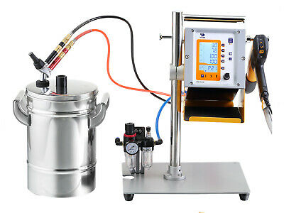 Hq Digital Display Powder Coating Machine Spray Gun With Ss 304 Min Hopper