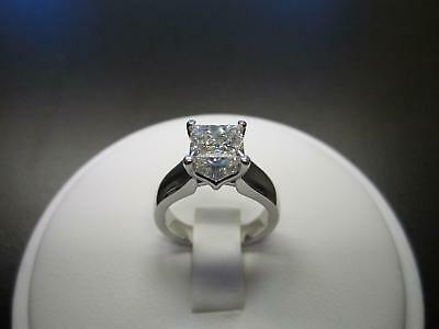 14K White Gold Over 2Ct Princess Cut Diamond Solitaire Engagement -