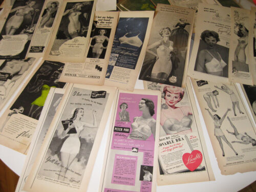 LOT 22 Vintage 1950s Ads Lingerie Underwear Girdles + Lucy Ball I Love Baby Doll