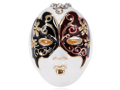 Enamel Paint Butterfly Venetian Masquerade Girls Face Mask Ring