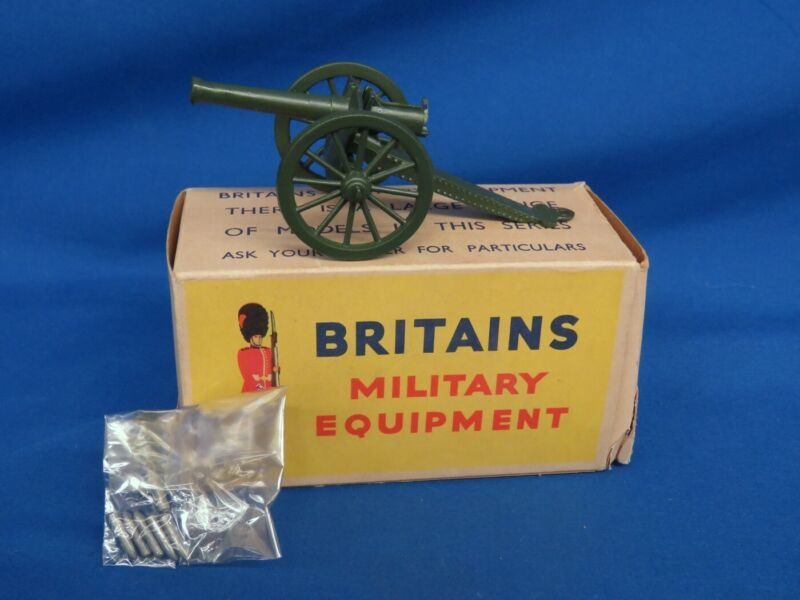Britains Military Equipment Canon w/ Ammunition And Original Box