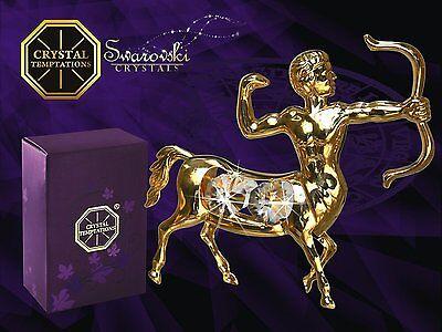 4198 Gold Sagittarius Schütze Swarovski Steine Kristall 24 Karat Crystal 10 cm