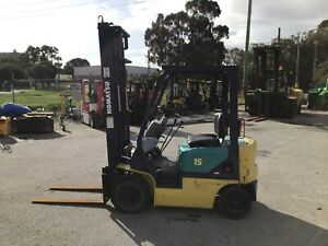 Komatsu 1500kg Petrol Forklift with 4000mm Two Stage Mast Malaga Swan Area Preview
