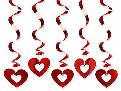 Valentinstag Girlande (Girlanden Spiralen mit Herzen Girlande Herzgirlande Valentinstag Hochzeit)