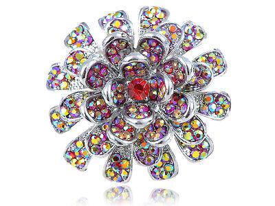 ad8540870e0a9 Fire Ruby Red Crystal Rhinestone Carnation Flower Fashion Custom Adjustable  Ring