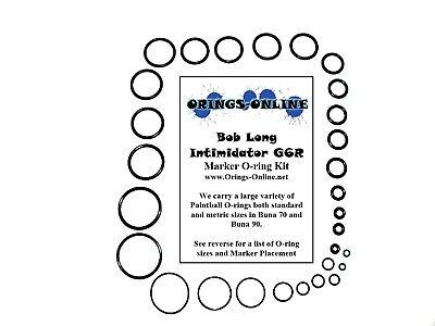Bob Long Intimidator G6R Paintball O-ring Oring Kit x 2 rebuilds / kits