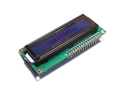 2pcs Blue 16x2 Lcd Display Hd44780 With Header Pins Soldered On 1602 Usa
