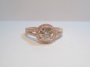 New 0.90 CT Solitaire Centre Natural Pink/Brown Diamond Ring