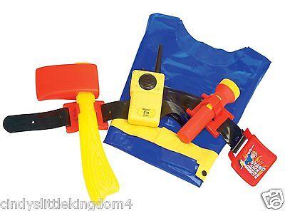 Fireman Sam Utilidad Cinturón Set Incluye Linterna,Walkie Talkie,Chaqueta &
