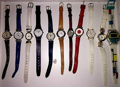 Lot of 11 Women's Watches For Repair Parts Rumours Carriage RPP Jordache Orbit