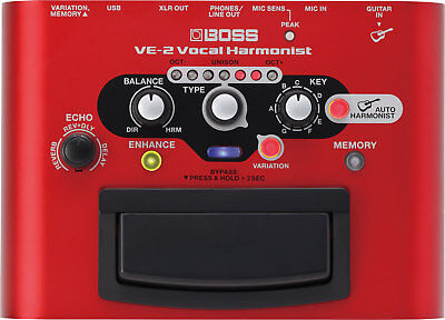 BOSS VE-2 Vocal Harmonist Battery-powered Portable Effects FX Processor Pedal for sale  National City