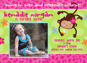 Monkey love party invitations - photo#28