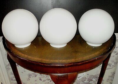 VINTAGE WHITE GLASS GLOBE SHADE