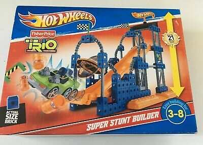 Fisher Price Hot Wheels Trio Super Stunt Builder Set w/ Box & Instructions Toy