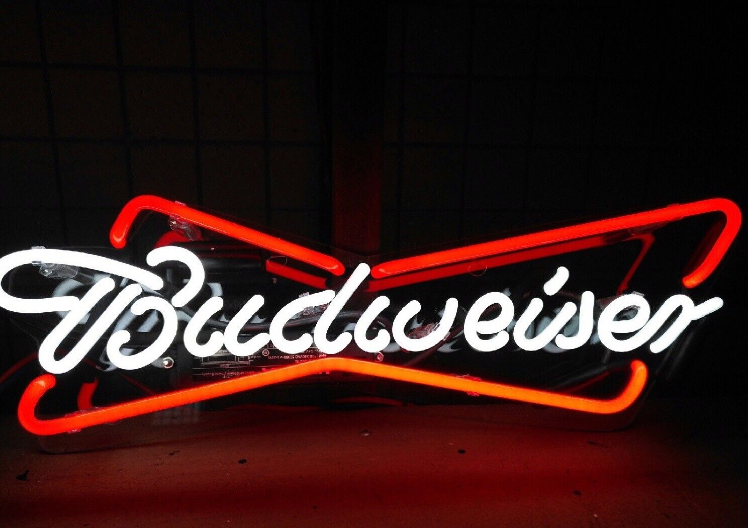 New Budweiser Bud Neon Light Sign Lamp Beer Pub Acrylic 14""