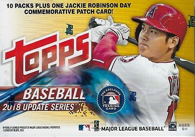 2018 Topps Baseball UPDATE Series MLB Cards 101ct Blaster Box= 1-J.R. Patch Card