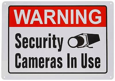 Security Video Spy Cameras Recording Alarm System In Use Warning Yard Sign