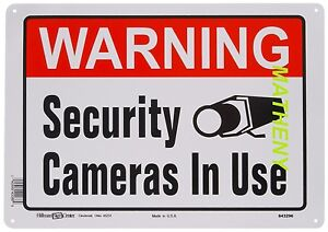 ~ Warning Security Cameras In Use ~ 10