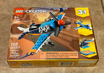 Lego Creator Propeller Plane (31099) ~ BRAND NEW! 3 in 1