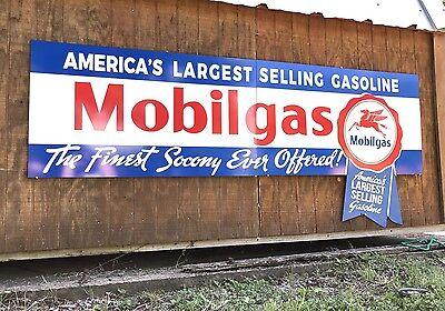 Antique Vintage Old Style Mobilgas Socony Sign HUGE!