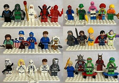 Minifigures 30pcs Lot- Super Heroes, Collectibles, Star Wars+ more- USA SELLER