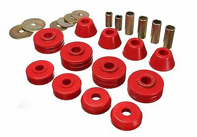 Energy Suspension 67-72 Chevy C10 C15 K15 2WD Pickup Body Mount Bushings (Red)