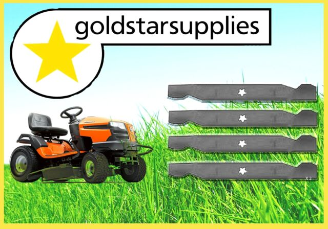 """2 X SETS OF 38"""" RIDE-ON MOWER BLADES TO SUIT HUSQVARNA MODELS (5 point star)"""