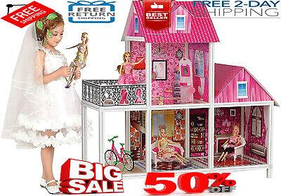 Barbie Playhouse Dream House Size Dollhouse Furniture Girls Play Fun Townhouse
