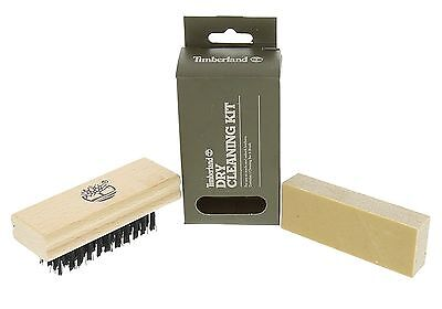 NEW! Timberland Unisex Footwear Dry Cleaning Kit Brush+Cleaner Bar Nubuck Suede