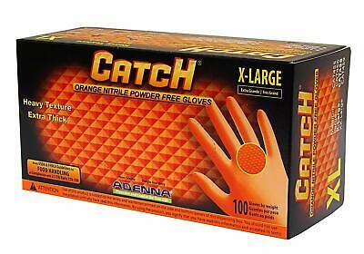 Adenna Cat458 Catch 8 Mil Nitrile Gloves Powder Free Orange Xl Box Of 100