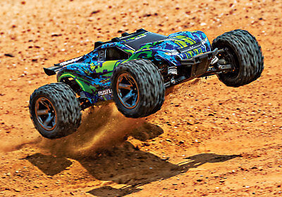 Rustler 67076-4 4X4 VXL 1/10 Scale Stadium Truck. Ready-to-Race® with TQi Green