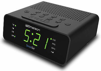 Emerson SmartSet Alarm Clock with AM/FM Radio Dimmer Sleep Timer LED Display