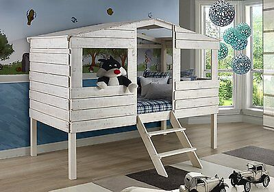 Donco Kids 1380-TLRS Couple Tree House Loft Bed Rustic Sand Finish 1380-TLRS New