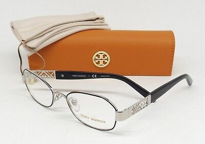 TORY BURCH TY 1043 3059 Eyeglasses Eyewear Silver Black Demo Lens w/CASE B0/25