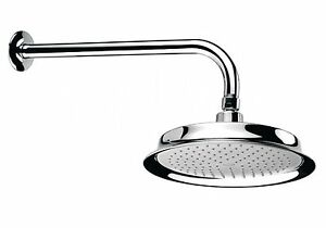Bristan Brass Chrome Plated Shower Head Rose Arm and Flange 220mm Complete