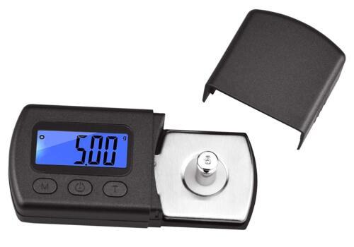 Digital Mini Turntable Stylus Force Scale Gauge Tester 0.01g Blue LCD Backlight